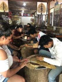 We learned leather-work from the kids, who make beautiful handicrafts to sell at the orphanage.